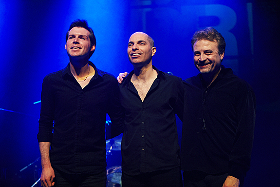 Gwilym Simcock, Asaf Sirkis and Tim Garland as the Lighthouse Trio