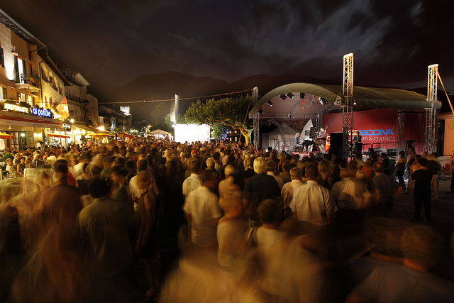 One of the outdoor stages at JazzAscona